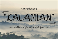 Sample image of Kalamian font by onne hermaone