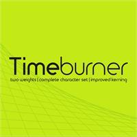 Sample image of TimeBurner font by NimaVisual