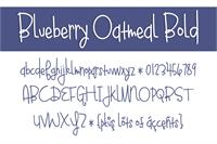 Sample image of Blueberry Oatmeal font by Brittney Murphy Design