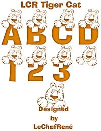 Sample image of LCR Tiger Cat font by LeChefRene