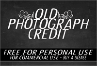 Sample image of CF Old Photograph Credit font by CloutierFontes