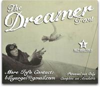 Sample image of The Dreamer font by Billy Argel