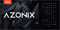 Sample image of Azonix font by mixofx