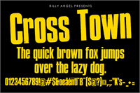 Sample image of Cross Town Personal Use font by Billy Argel