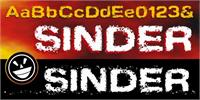 Sample image of Sinder font by the Fontry