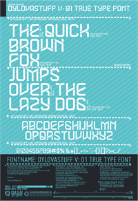 Sample image of DYLOVASTUFF font by dylovastuff