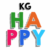 Sample image of KG HAPPY font by Kimberly Geswein