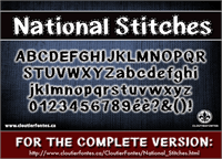 Sample image of CF National Stitches font by CloutierFontes