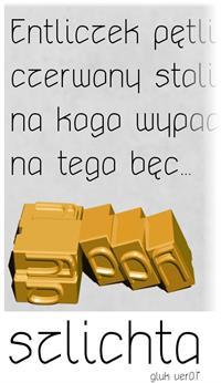 Sample image of szlichta07 font by gluk