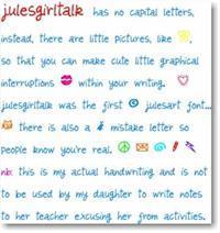 Sample image of julesgirltalk font by julesart