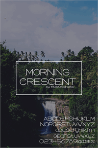 Sample image of Morning Crescent font by IntestinoGrueso
