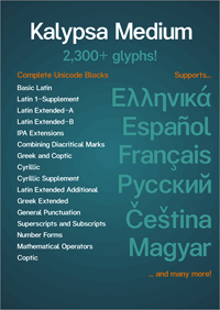 Sample image of Kalypsa font by Explogos