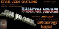 Sample image of Star Jedi Outline font by Boba Fonts