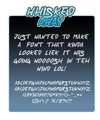Sample image of Whisked Away font by Press Gang Studios