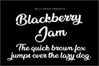 Sample image of Blackberry Jam Personal Use font by Billy Argel