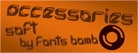 Sample image of accessories soft font by Fonts bomb