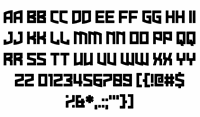Sample image of Dire Gramme font by Chequered Ink