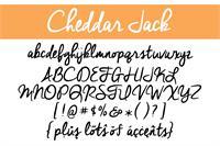 Sample image of Cheddar Jack font by Brittney Murphy Design