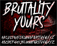 Sample image of BRUTALItY YOURS  DEMO font by knackpackstudio