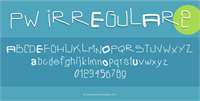 Sample image of PWIrregular2 font by Peax Webdesign