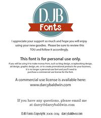 Sample image of DJB Constance Beauregard font by Darcy Baldwin Fonts