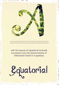 Sample image of Zamrud & Khatulistiwa font by Gunarta
