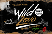 Sample image of Wild Zova Free font by feydesign