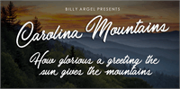 Sample image of Carolina Mountains Personal Use font by Billy Argel