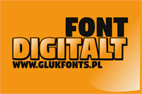 Sample image of Digitalt font by gluk