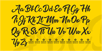 Sample image of Sweet Sensations Personal Use font by Billy Argel
