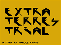 Sample image of Extraterrestial font by M.Ramos