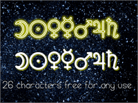 Sample image of Astronomic Signs St font by Southype