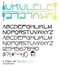 Sample image of Ukulele font by Elling Lien