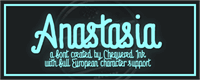 Sample image of Anastasia font by Chequered Ink