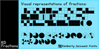 Sample image of KG Fractions font by Kimberly Geswein