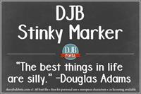 Sample image of DJB Stinky Marker font by Darcy Baldwin Fonts