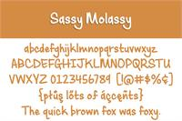 Sample image of Sassy Molassy font by Brittney Murphy Design