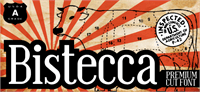 Sample image of Bistecca font by Zetafonts