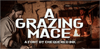 Sample image of A Grazing Mace font by Chequered Ink