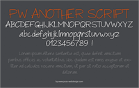 Sample image of PWAnotherScript font by Peax Webdesign