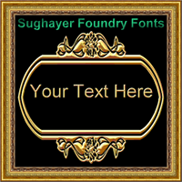 Sample image of Vintage Panels_024 font by Sughayer Foundry