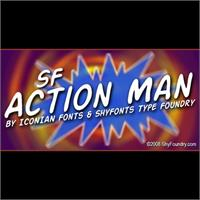 Sample image of SF Action Man font by ShyFoundry