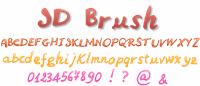 Sample image of JDBrush font by Jecko Development