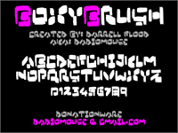 Sample image of Boxybrush font by Darrell Flood