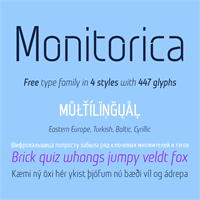 Sample image of Monitorica font by Monitorica Free Font
