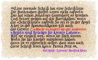 Sample image of ParmaPetitNormal font by Manfred Klein