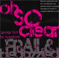 Sample image of Frail & Bedazzled font by Nymphont