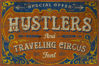 Sample image of Hustlers Rough Demo font by Decade Type Foundry