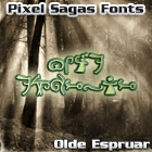 Sample image of Espruar font by Pixel Sagas