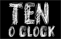 Sample image of TEN O CLOCK font by CloutierFontes